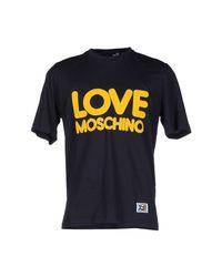 Love Moschino - Blue T-shirt for Men - Lyst