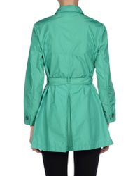 Aspesi - Green Overcoat - Lyst