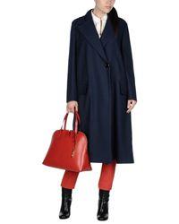 Marni - Blue Overcoat - Lyst