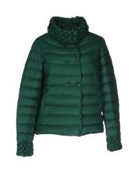 Armani Jeans - Green Down Jacket - Lyst