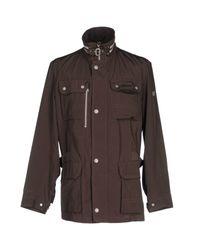 Bugatti | Brown Overcoat for Men | Lyst