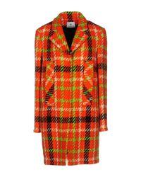 Piu & Piu | Orange Coat | Lyst