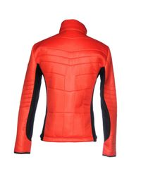 EA7 - Red Jacket for Men - Lyst