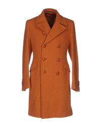 Tagliatore - Orange Coat - Lyst