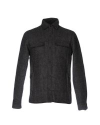 Aspesi - Gray Coat for Men - Lyst