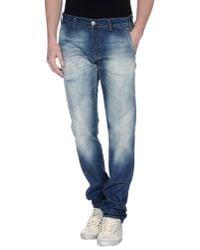 Care Label | Blue Denim Pants for Men | Lyst