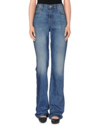 J Brand - Blue Denim Trousers - Lyst