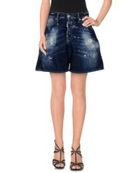 DSquared² | Blue Denim Shorts | Lyst