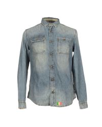 Armani Jeans | Blue Denim Shirt for Men | Lyst