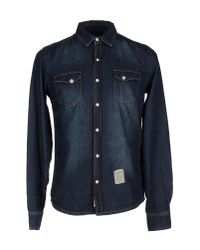 Fred Mello - Blue Denim Shirt for Men - Lyst