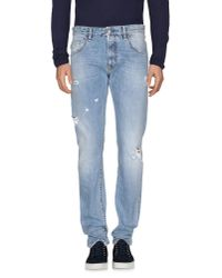 Love Moschino - Blue Denim Pants for Men - Lyst
