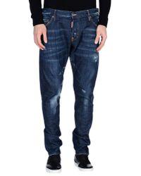 DSquared²   Blue Denim Pants for Men   Lyst