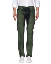 KENZO - Green Denim Trousers for Men - Lyst