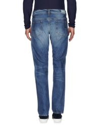 M. Grifoni Denim - Blue Denim Trousers for Men - Lyst