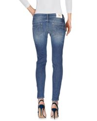 Twin Set - Blue Denim Pants - Lyst
