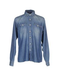North Sails - Blue Denim Shirt for Men - Lyst