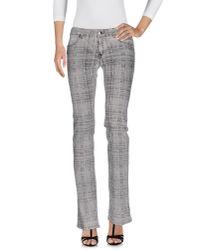 Just Cavalli - Gray Denim Pants - Lyst