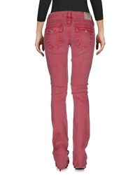 True Religion - Purple Denim Pants - Lyst