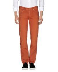 7 For All Mankind | Brown Denim Pants for Men | Lyst