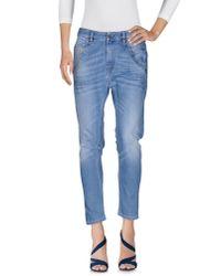 DIESEL - Blue Denim Pants - Lyst