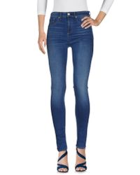 Rag & Bone | Blue Denim Pants | Lyst