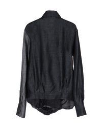 Mariagrazia Panizzi - Black Denim Shirt - Lyst