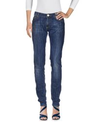 Elisabetta Franchi | Blue Denim Pants | Lyst