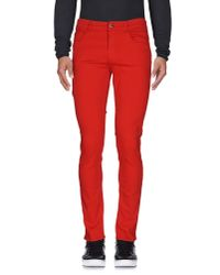 Love Moschino   Red Denim Trousers for Men   Lyst