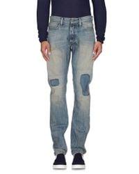 Denham   Blue Denim Trousers for Men   Lyst