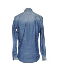 Macchia J - Blue Denim Shirt for Men - Lyst