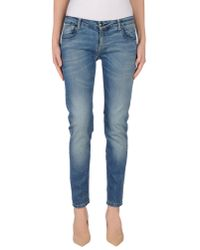 Annarita N. - Blue Denim Trousers - Lyst