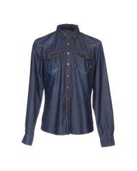UNIFORM - Blue Denim Shirt for Men - Lyst