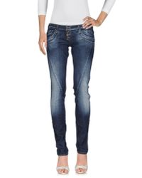 Please | Blue Denim Pants | Lyst