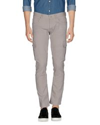 Paolo Pecora - Gray Casual Trouser for Men - Lyst
