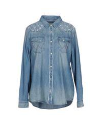 Wrangler | Blue Denim Shirt | Lyst