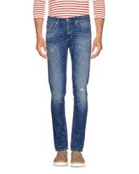 Dondup | Blue Denim Trousers for Men | Lyst