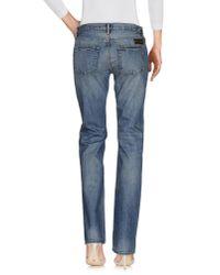Burberry Brit - Blue Denim Trousers - Lyst