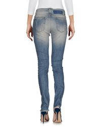 Met - Blue Denim Pants - Lyst