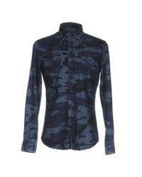 Hydrogen | Blue Denim Shirt for Men | Lyst