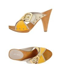 Nine West | Yellow Mules | Lyst