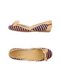 Car Shoe | Red Ballet Flats | Lyst