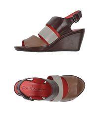 Pas De Rouge | Brown Sandals | Lyst