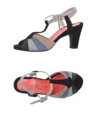 Pas De Rouge | Black Sandals | Lyst