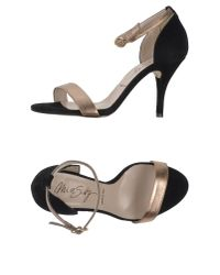 Miss Sixty | Metallic Sandals | Lyst