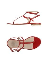 Orciani - Red Toe Strap Sandal - Lyst