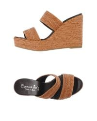 Carmen Saiz - Brown Sandals - Lyst