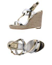Dior | Metallic Espadrilles | Lyst