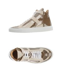 MM6 by Maison Martin Margiela - Natural High-tops & Sneakers - Lyst
