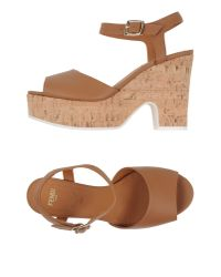 Fendi   Brown Sandals   Lyst