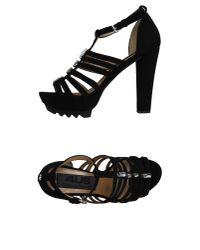 Cesare Paciotti   Black Sandals   Lyst